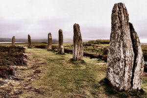 The Ring of Brodgar stone circle, Orkney