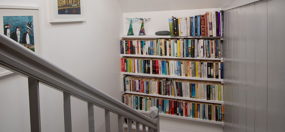 Jackie's House staircase library